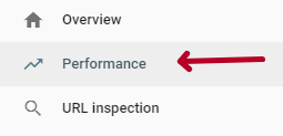 Choosing Performance in Google Search Console
