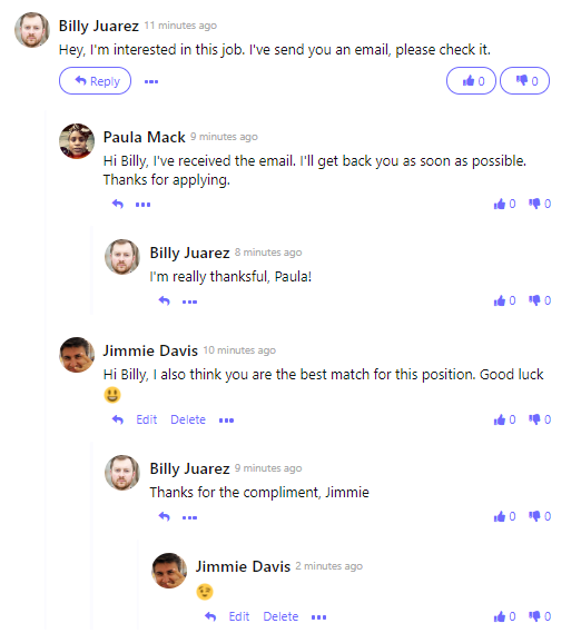 Comments section with Single Sign-on on a PHP application