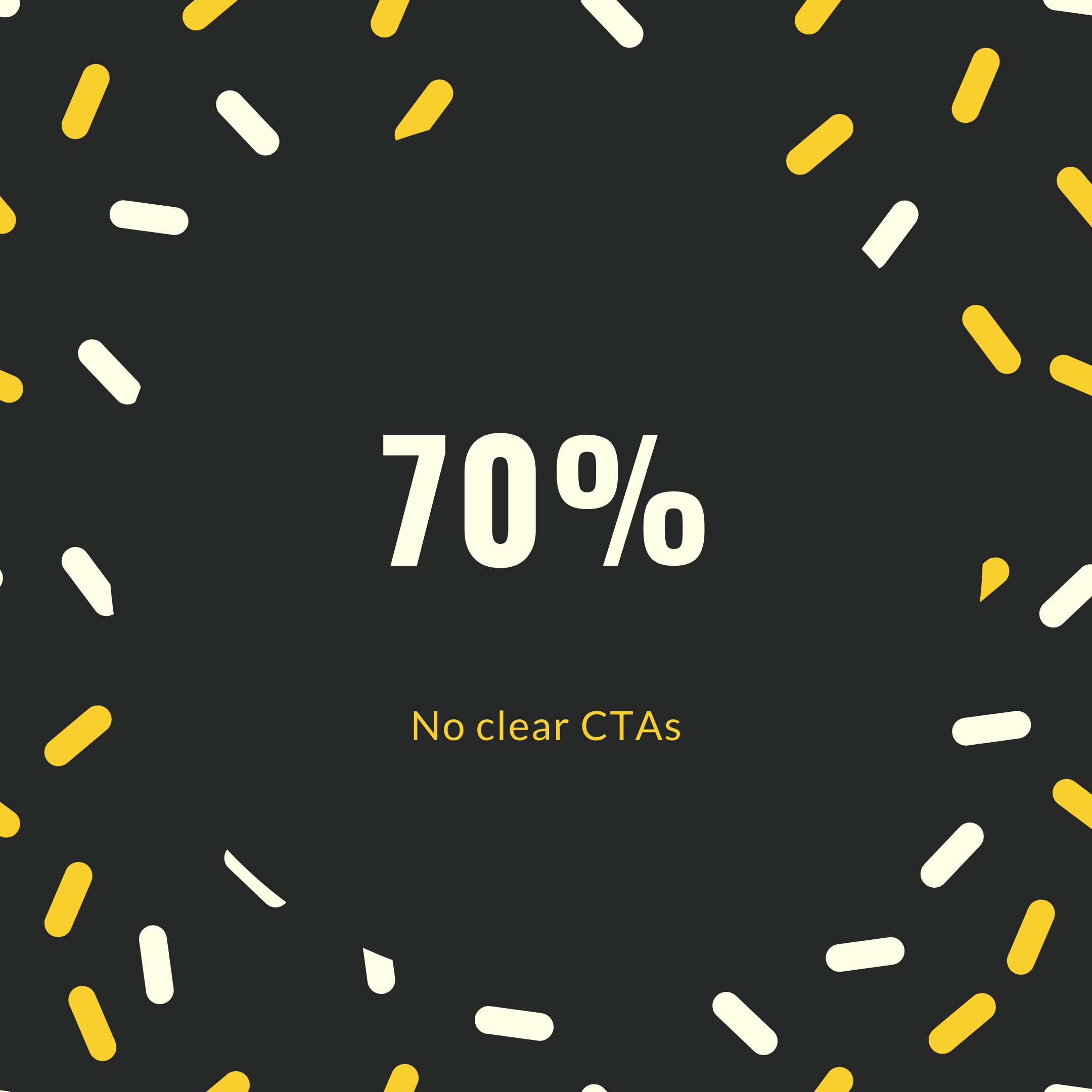70% websites doesn't have a CTA