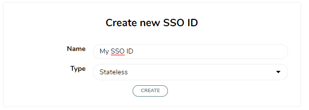 Create new SSO ID for the PHP app
