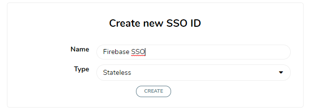 Creating a new SSO ID for a firebase application to add comments section