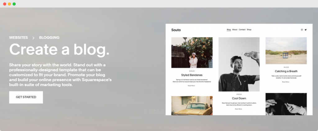 Getting Started - How to create a blog with Squarespace