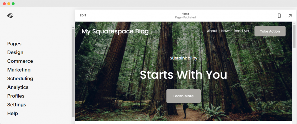 Editor - How to create a blog with Squarespace