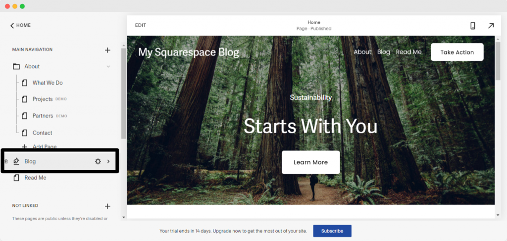 Adding Comments- How to create a blog with Squarespace