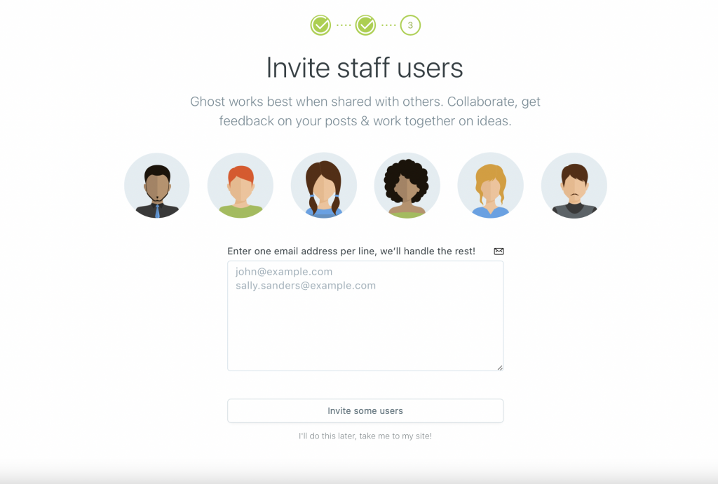 Invite Staff Users to your Ghost blog