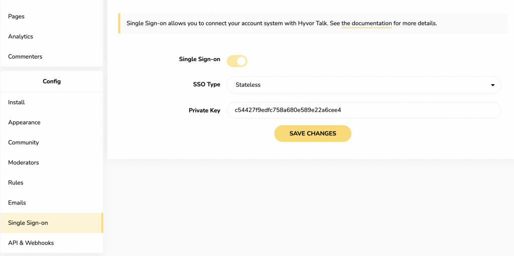 Setting up Single Sign-on for membestack comments