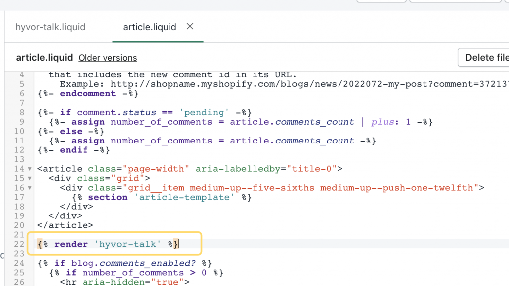 Adding commenting system to Article pages in blog posts